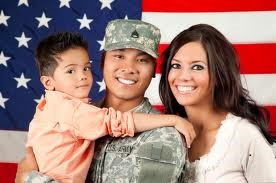 Veteran and her family